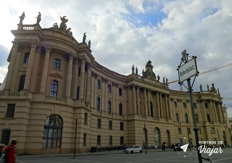 Bebelplatz Berlim - Humboldt University