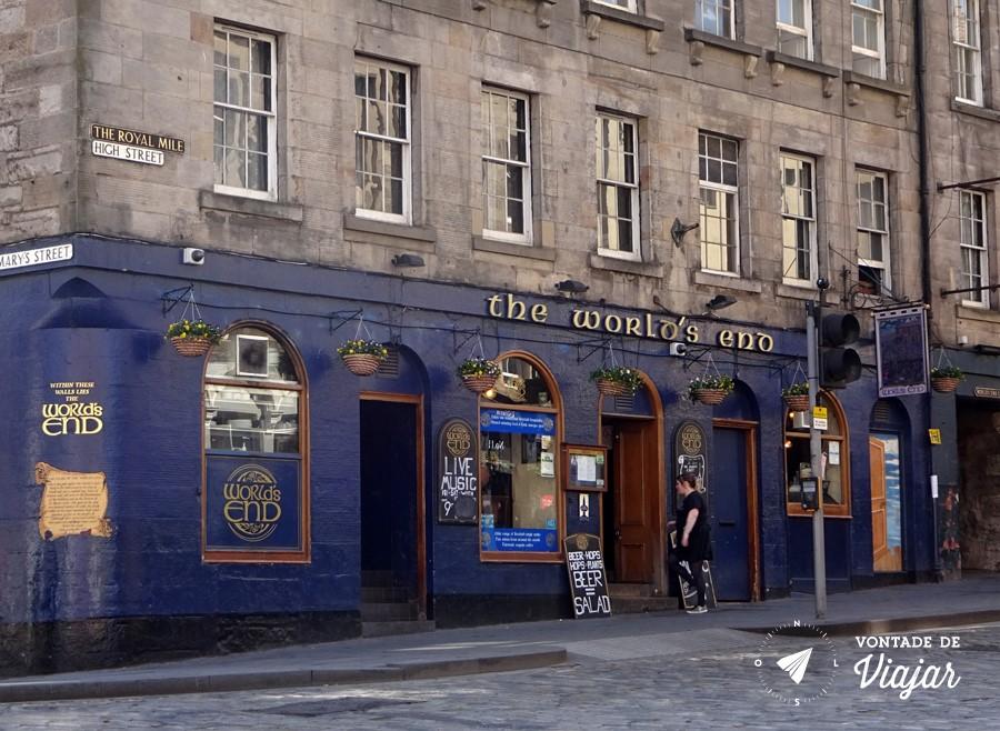 Pubs de Edimburgo - The Worlds End pub do fim do mundo