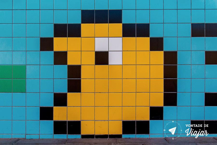 Metro em 8 bits - PacMan no metro em Estocolmo