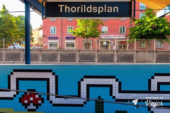Metro em Estocolmo - Estacao Thorildsplan em Estocolmo