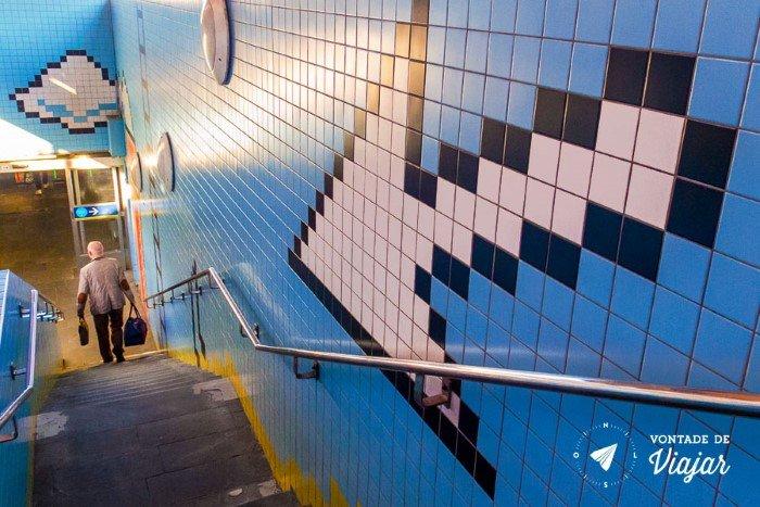 Metro em Estocolmo - Metro arcade em Estocolmo