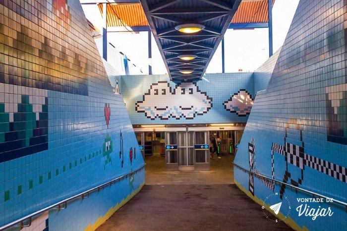 Metro em Estocolmo - Metro de videogame na Suecia