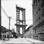 NYC Department of Records - Estrutura da Manhattan Bridge vista da rua Washington 1908