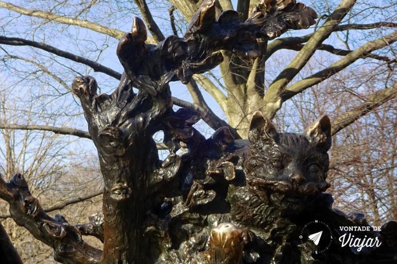 Nova York Central Park - Estatua Alice no Pais das Maravilhas - Cheshire Cat