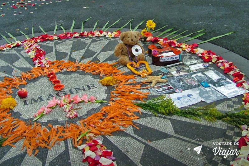 Nova York Central Park - Strawberry Fields John Lennon Imagine