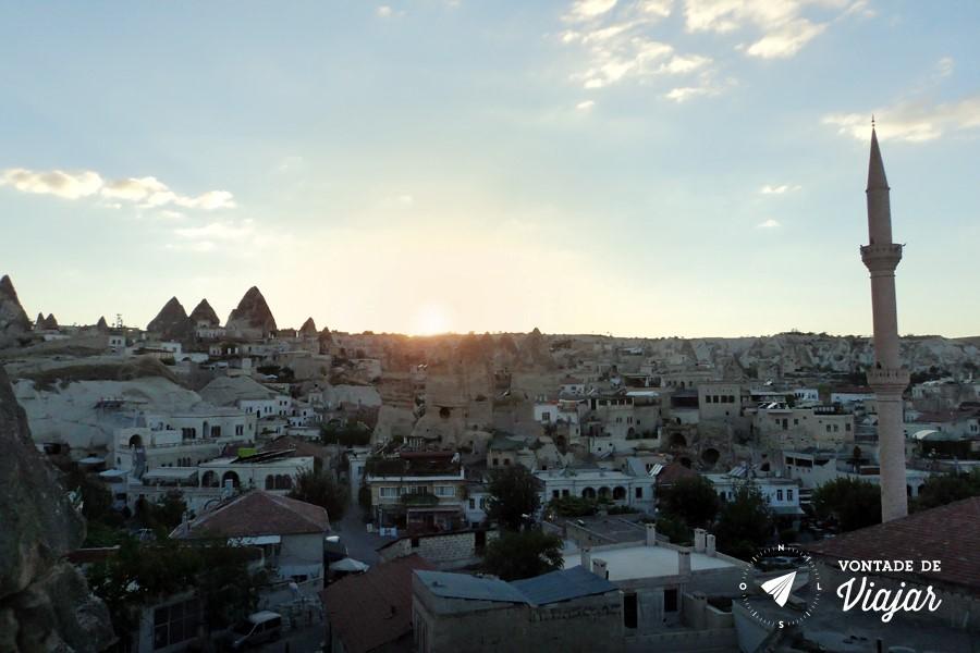 Turquia - Vista do hotel na Capadocia de manha