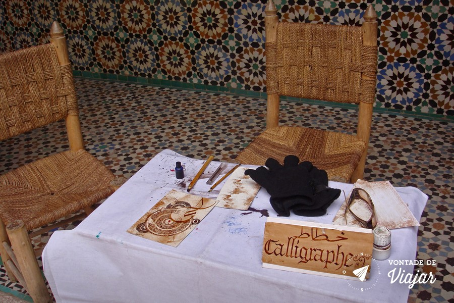 Marrakech - Caligrafia arabe