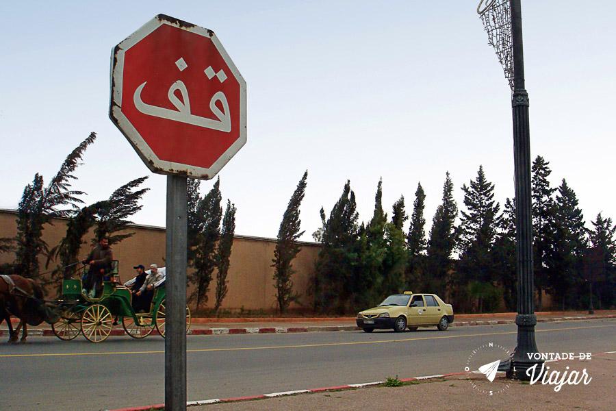 Marrakech - caminho do aeroporto para a Medina