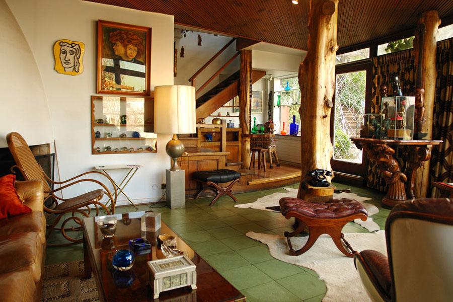 Interior da casa La Chascona, de Pablo Neruda - Foto de Adolfo Martins
