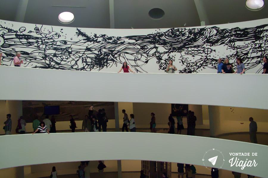 Museus em NY - Guggenheim Nova York rampa espiral