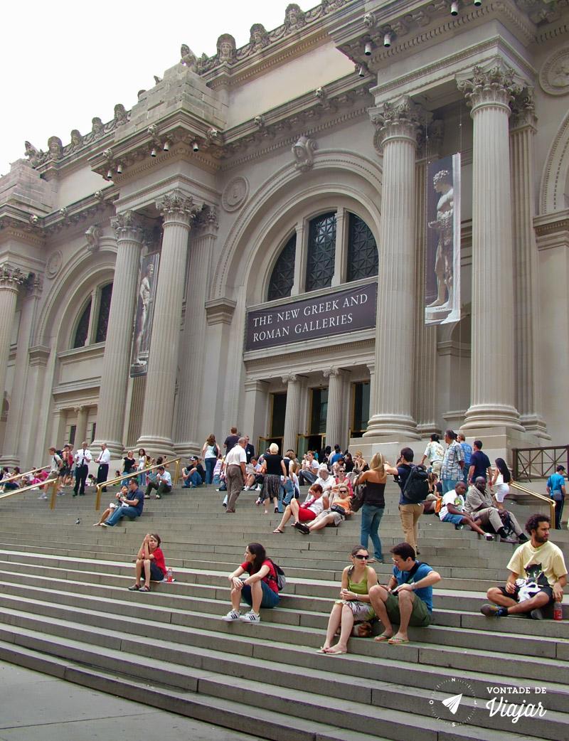 Museus em NY - Metropolitan Escadaria do MET Nova York