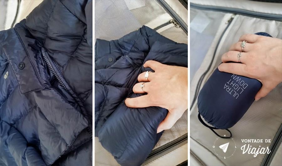 Como fazer as malas - Casaco compacto resistente a agua