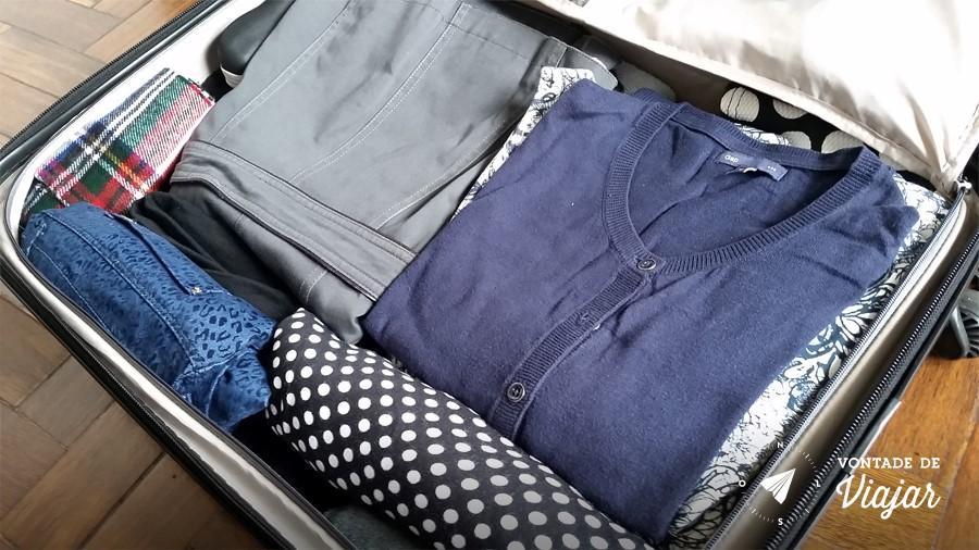 Como fazer as malas - Mala arrumada