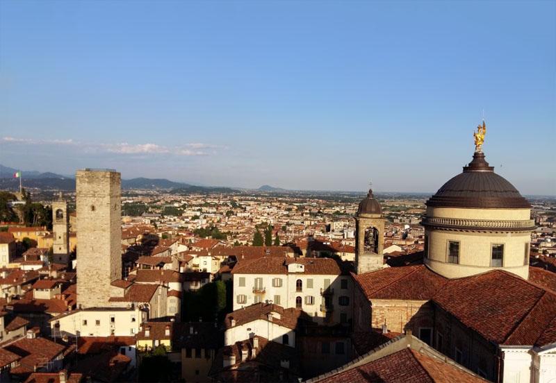 O que fazer em Bergamo - Vista da torre Campanone - Foto Tiffany Pesenti