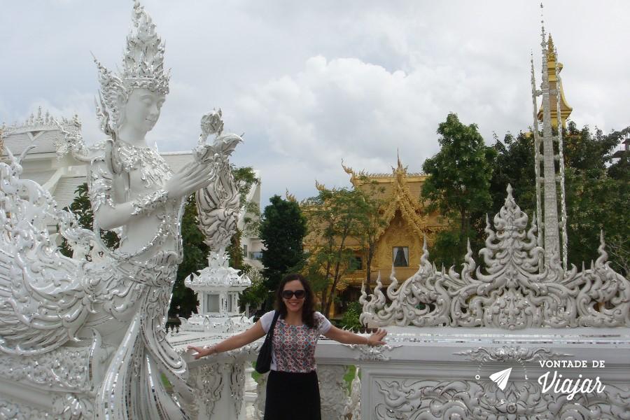Templo Branco na Tailandia - Figuras miticas no White Temple