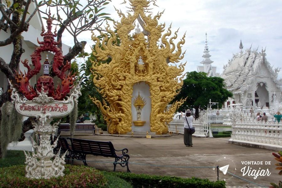 Templo Branco na Tailandia - Templo bizarro