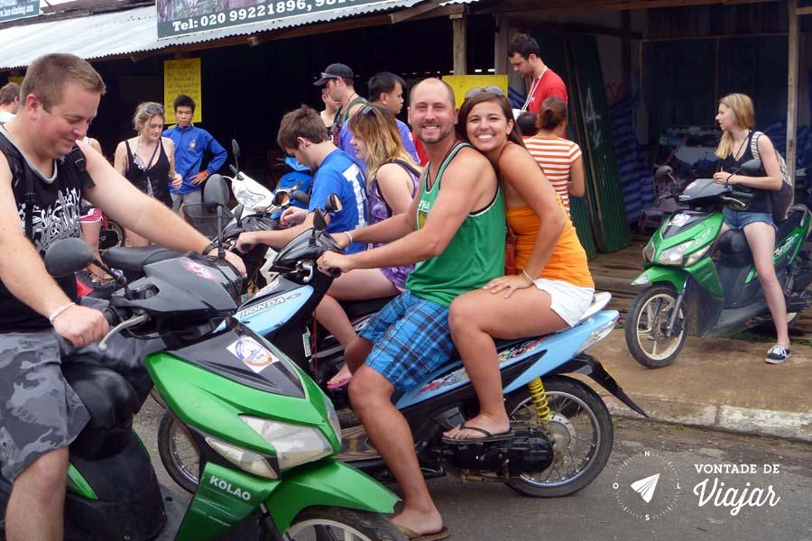 Vang Vieng Laos - Aluguel de moto