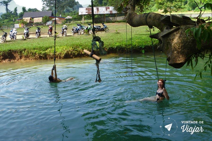 Vang Vieng Laos - Lagoa azul