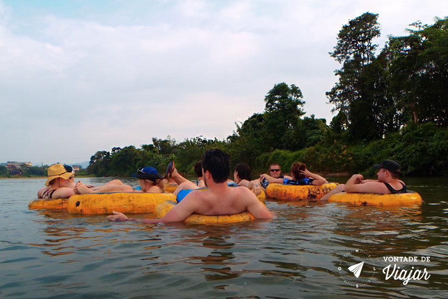 Viagem Sudeste Asiatico - Tubing Vang Vieng Laos