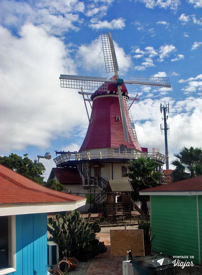 Aruba - Moinho holandes no Caribe