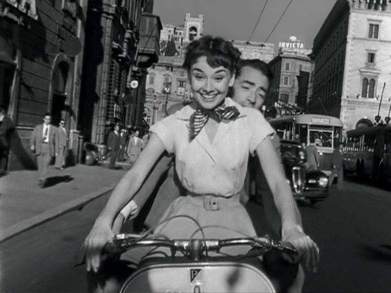 O que fazer em Roma - Audrey Hepburn moto - Princesa e o Plebeu