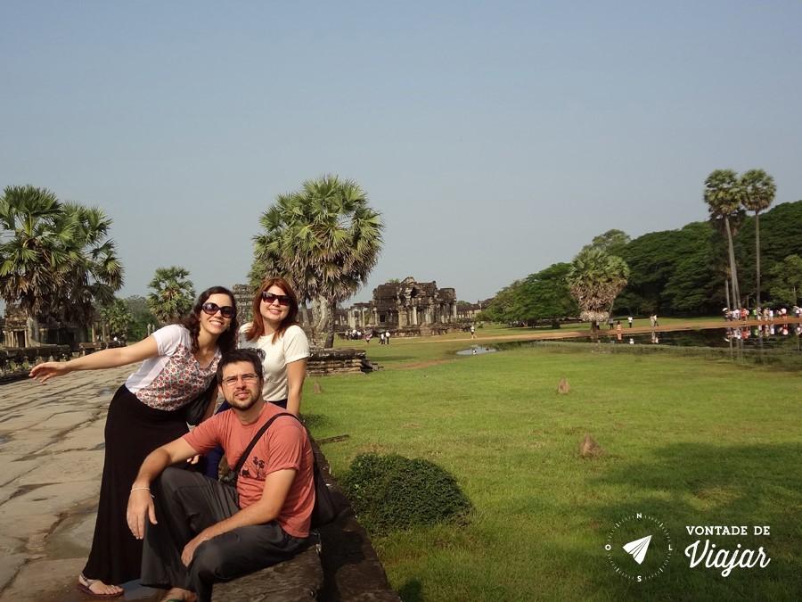 Angkor Wat - O reino de Angkor chegou a ter 1 milhao de habitantes