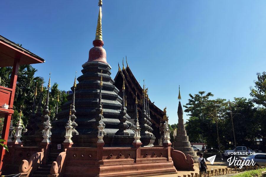 Chiang Mai Tailandia - Estupa Wat Phan Tao - Foto Flavio Albuquerque