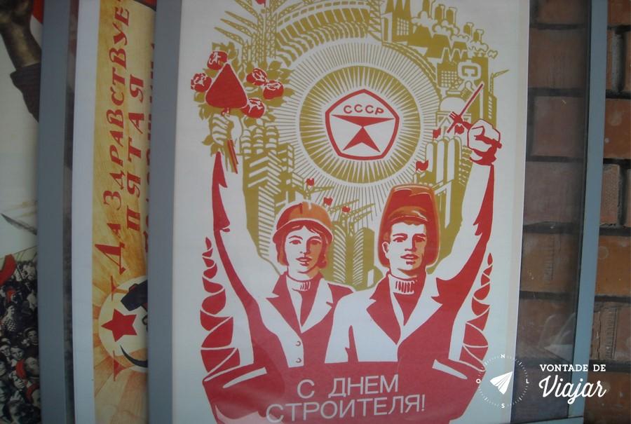 Budapeste - Cartazes comunistas no Memento Park