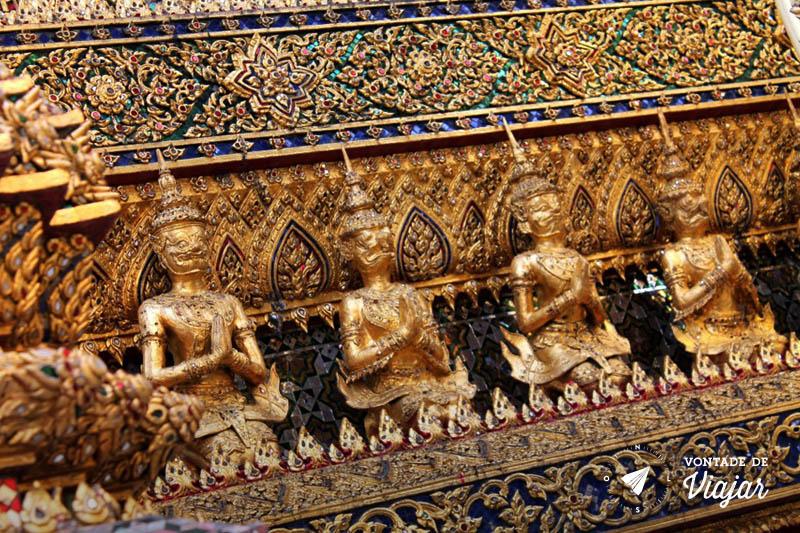 Bangkok - Detalhes dos templos tailandeses
