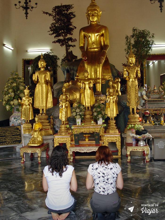 Bangkok - Reverencia templo budista Wat Pho