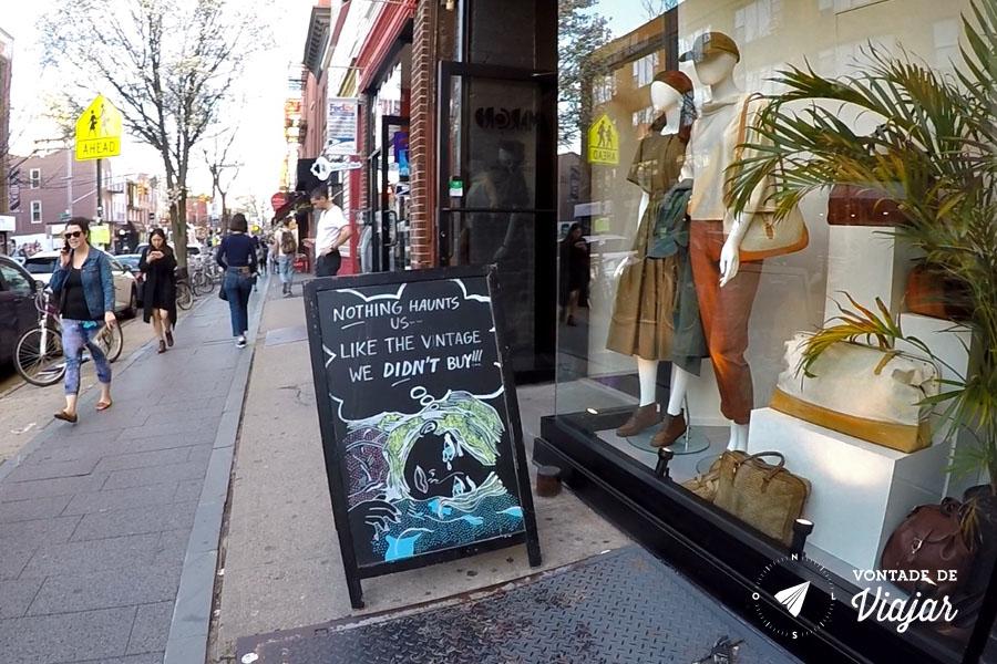 Brooklyn NY - Vintage store em Williamsburg