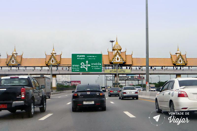 Tailandia - Chegada do aeroporto de Bangkok