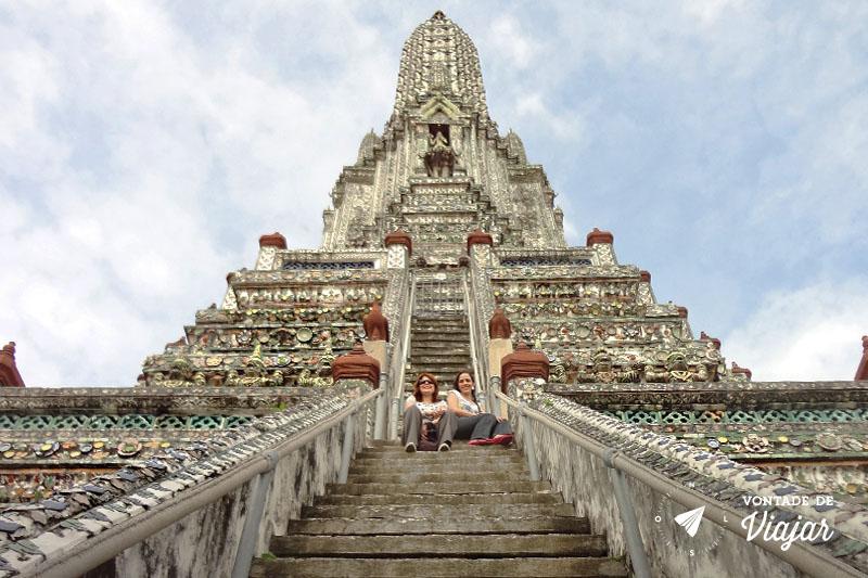 Tailandia - Escadaria Templo Wat Arun Bangkok