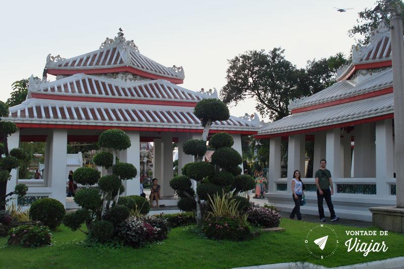 Tailandia - Jardins do templo Wat Arun Bangkok