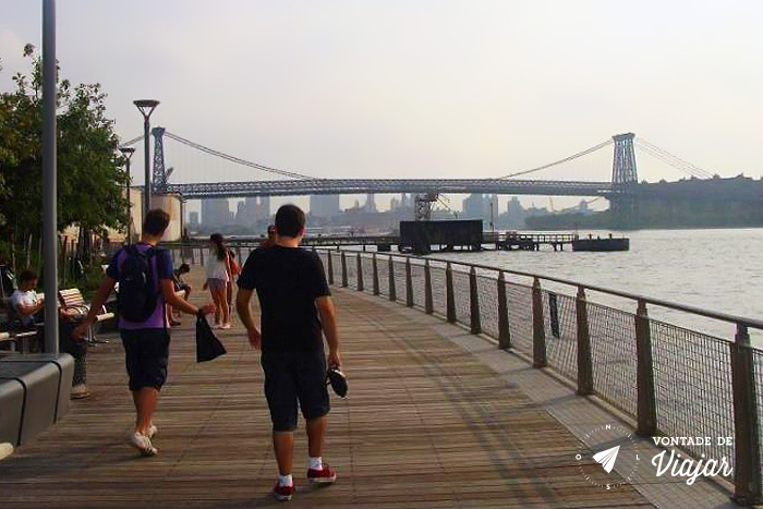 Williamsburg NY - Matheus e Daniel no Brooklyn Bridge Park