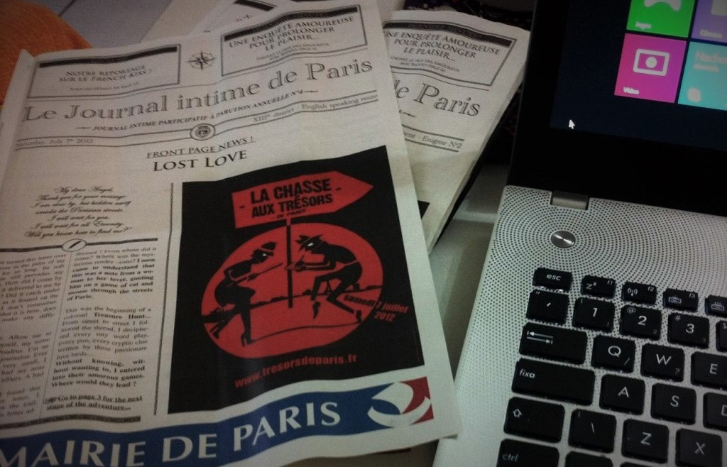 Caca ao tesouro em Paris - Folheto