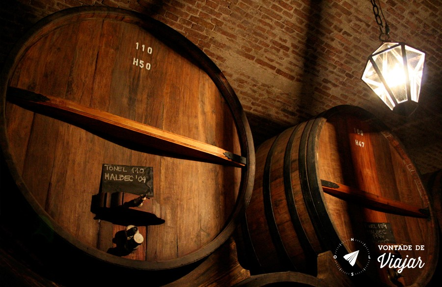 Mendoza - Barris de vinho Malbec argentino