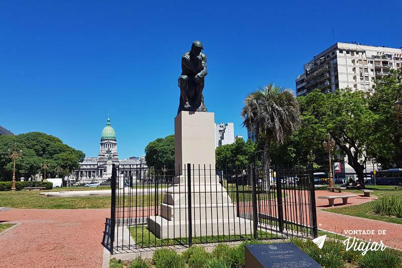 Buenos Aires - O Pensador de Rodin na Praca do Congresso