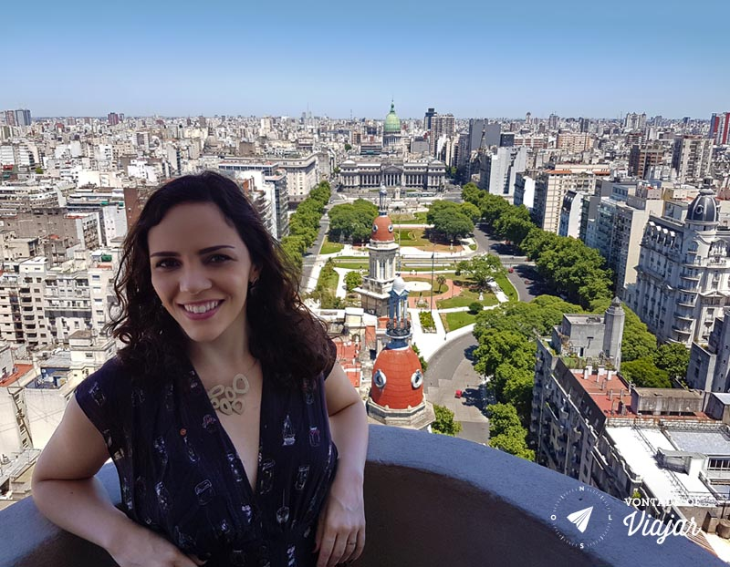 Praça do Congresso vista do 20º andar do Palácio Barolo