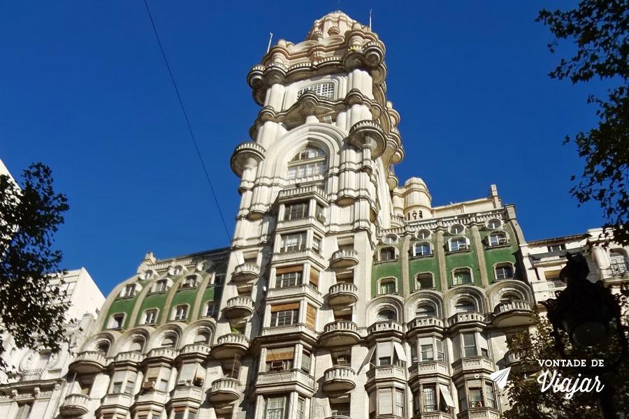 Buenos Aires - Palacio Barolo visto da Avenida de Mayo