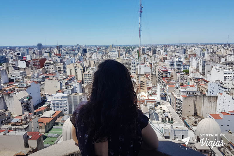 Vista do Palácio Barolo: prédios de Buenos Aires