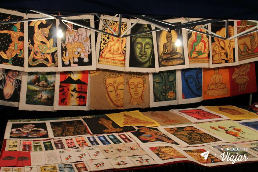 Mercados da Asia - Luang Prabang Night Market pinturas