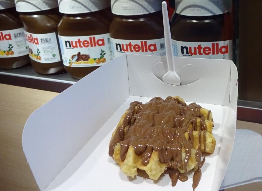 Waffle com Nutella