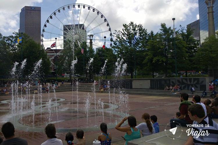 O que fazer em Atlanta - Fontes no Centennial Park