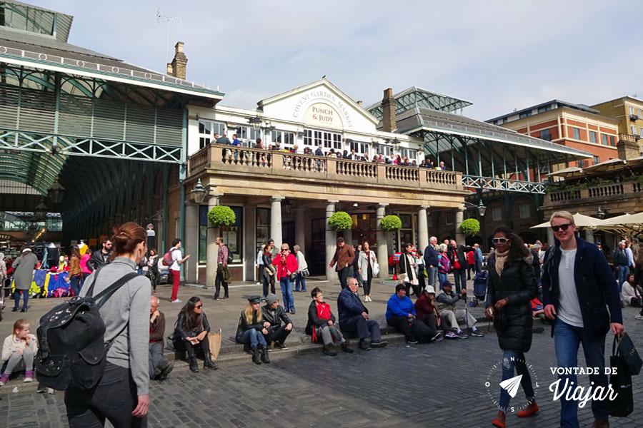 Covent Garden - Praca movimentada (foto do blog Vontade de Viajar)