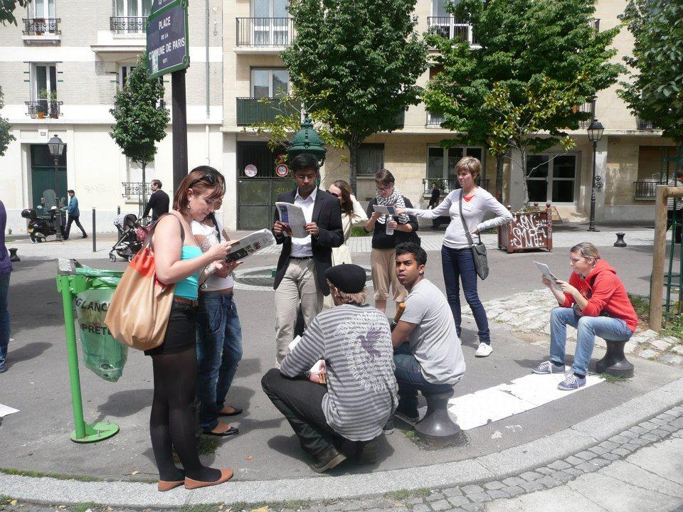 Tesouros de Paris - Grupo se reune na Place de la Comune