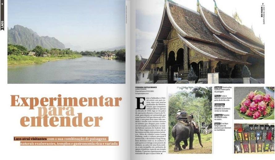 clipping 2014.01.16 Boa Viagem O Globo - Experimentar para entender o Laos