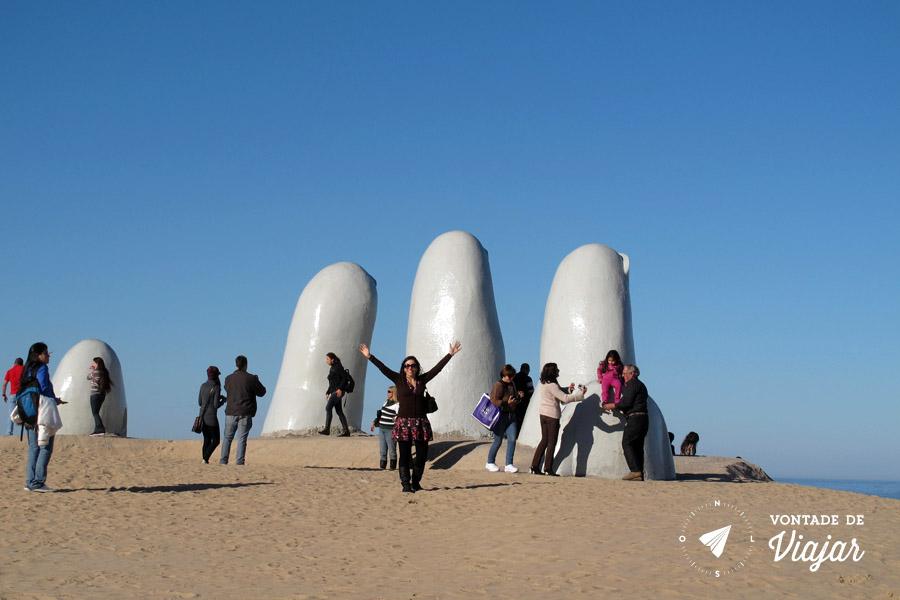 Punta del Este - Turistas em La Mano Playa Brava