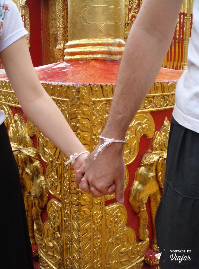 Tailandia Chiang Mai Doi Suthep - Barbante do monge