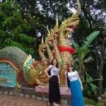 Tailandia Chiang Mai Doi Suthep - Escadaria serpente Naga